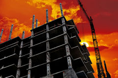 Building of modern high-rise buildings Stock Image