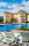 Building of modern hotel. Ukraine. Crimea. Settlement a New World. A building of modern hotel royalty free stock photo