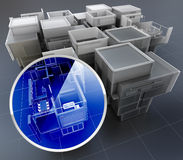 Building monitoring system Stock Photo