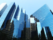 Building in montreal. A blue glass building in montreal Stock Image