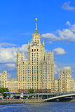 Building of Moscow. High-altitude old building to Russia, the city of Moscow Royalty Free Stock Photos