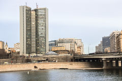 Building of Moscow governmet. Royalty Free Stock Photography