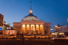 The building of the Moscow metro Komsomolskaya  in Moscow Stock Photos