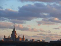 Building of the Moscow University. Stock Photography