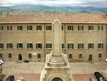Building in mountain in San Marino Stock Images