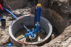 Building municipal water supply Stock Photos
