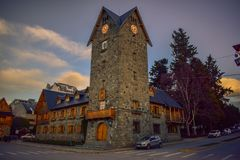 Building of the municipality of Bariloche, Argentina stock images