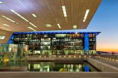 Building of Museum of European and Mediterranean Civilizations Stock Images