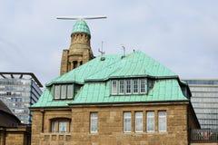 Building named Landungsbruecken in Hamburg, Germany.  royalty free stock photo