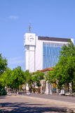 Building of national Agency of information in center of Tashkent Royalty Free Stock Photography