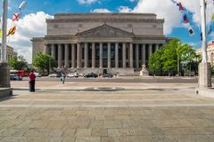 The building of the National Archives of the United States stock image