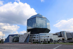 The building of the National Library of Belarus in Minsk Stock Photos
