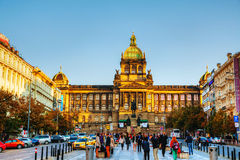 Building of the National Museum in Prague on a sunny day Royalty Free Stock Images