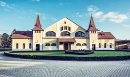 Building of national stud farm, Topolcianky, Slovakia. Historic building of national stud farm, Topolcianky, Slovak republic. Architectural theme. Travel stock photos
