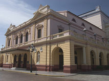 Building of national theatre in republic Panama Stock Image