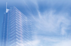 Building and nature cloud poster Royalty Free Stock Photography