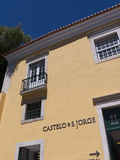Building near the Castle of San Jorge in Lisbon Portuga Royalty Free Stock Image