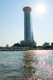 Building near River. Location:Chao Phraya River, Bangkok, Thailand Royalty Free Stock Photo