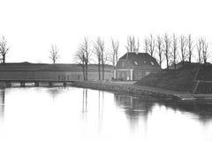 Building near the sea in Denmark royalty free stock photos