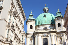 Building near St. Peters Church in Vienna Royalty Free Stock Photography