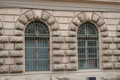 A building in need of renovation in Szeged. A town in the south of Hungary, Europe Royalty Free Stock Photo