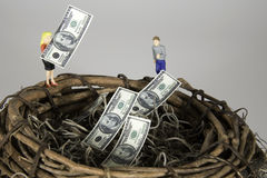 Building a Nest Egg royalty free stock photo