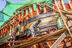 Building a new boat Stock Photo