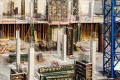 Building new concrete house Stock Image