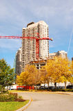 Building new high-rise. Royalty Free Stock Photo