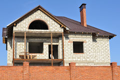 Building a new home. From bricks Stock Photography