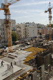 Building a new home in Moscow. 2006 september Building a new home in Moscow central administrative district Royalty Free Stock Photos
