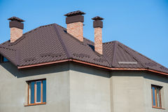 Building new home and roof Royalty Free Stock Photo