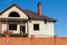 Building new home and roof Stock Photo