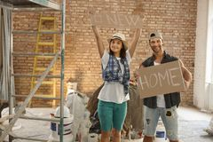 Building a new home Stock Images