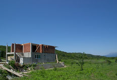 Building a new house. European style Royalty Free Stock Photos