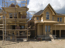 Building new houses Stock Images