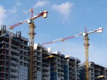 Building new housing apartments in Singapore Royalty Free Stock Photography