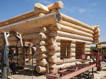 Building a new Log Home Royalty Free Stock Images