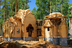 Building of the new log house Royalty Free Stock Images