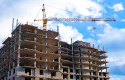 Building of new residential unit Stock Photography