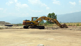 Building new road in Greece Royalty Free Stock Photography