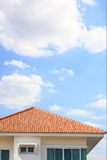 Building a new roof of home Stock Image