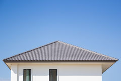 Building a new roof of home Royalty Free Stock Image