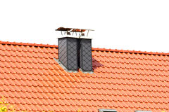 Building a new roof Royalty Free Stock Photography