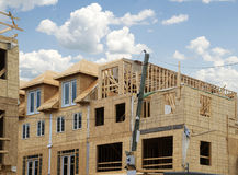 Building new townhouses Stock Image