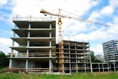 Building new Vilnius city house in Fabijoniskes district Royalty Free Stock Photos