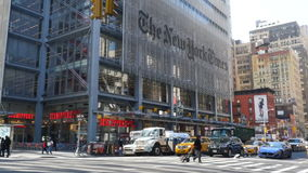 Building The New York Times stock video footage