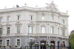 Linares Palace. The building next to Cibeles Madrid between Paseo de Recoletos and Alcalá Street in Madrid stock photos
