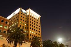 Building at Night. Building shot with long exposure at night. Mood visible at bottom right Stock Images
