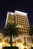 Building at Night. Building shot with long exposure at night Stock Photo